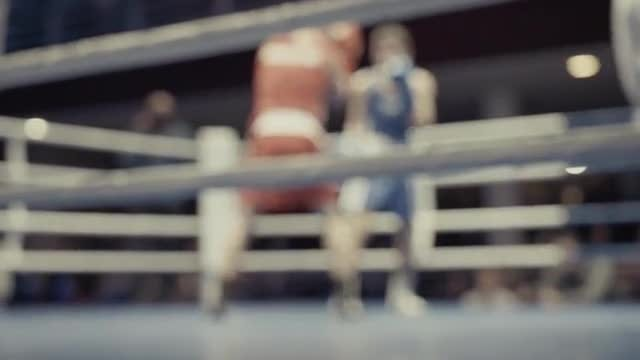 Boxers In The Ring: Stock Video