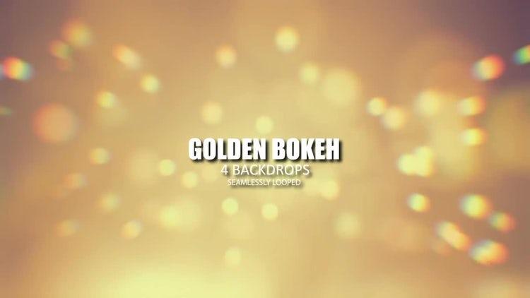 Golden Bokeh: Stock Motion Graphics