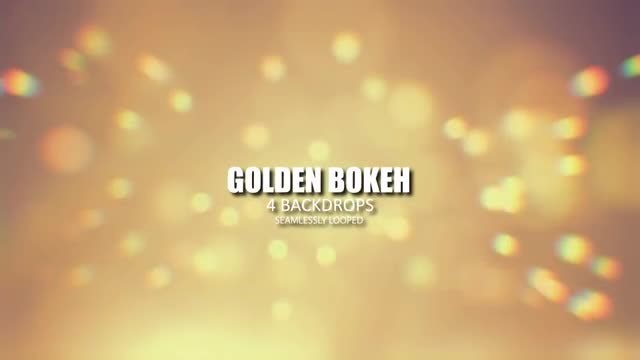 Golden Bokeh: Stock Motion Graphics