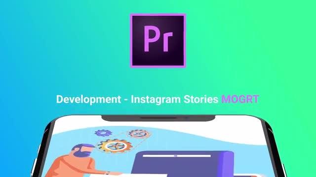 Web Development Flat - Instagram Stories: Motion Graphics Templates