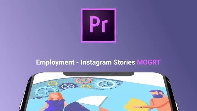 Employment Flat - Instagram Stories: Motion Graphics Templates