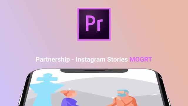 Partnership - Flat Instagram Stories: Motion Graphics Templates
