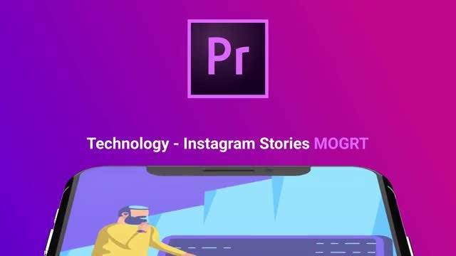 Technology - Flat Instagram Stories: Motion Graphics Templates