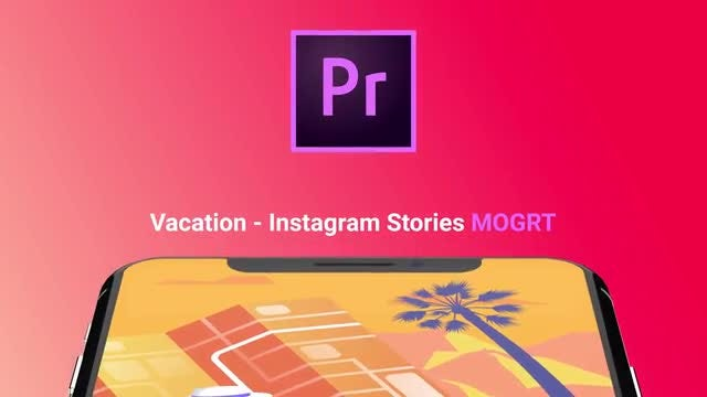 Vacation - Flat Instagram Stories: Motion Graphics Templates
