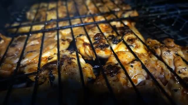 Grilled Chicken Meat: Stock Video