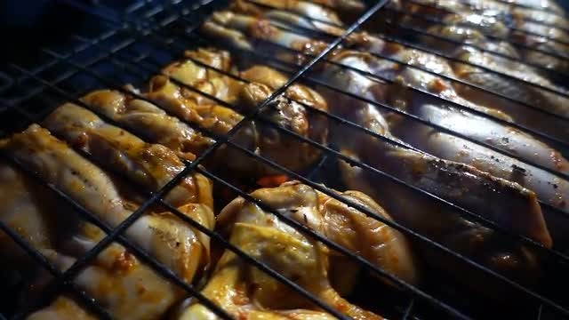 Chicken Barbecue: Stock Video