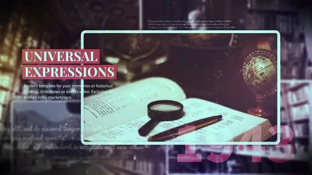 Historical Slides: After Effects Templates