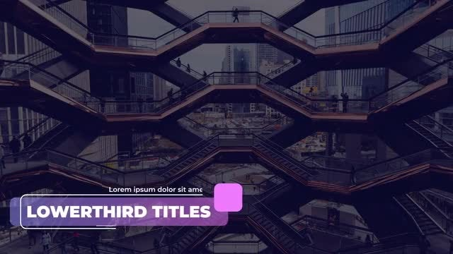Stylish Corporate Titles & Lower Thirds: Premiere Pro Templates