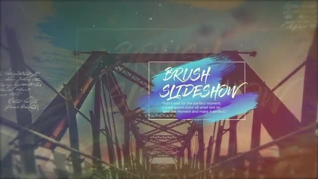 Brush Cinematic Slideshow: After Effects Templates