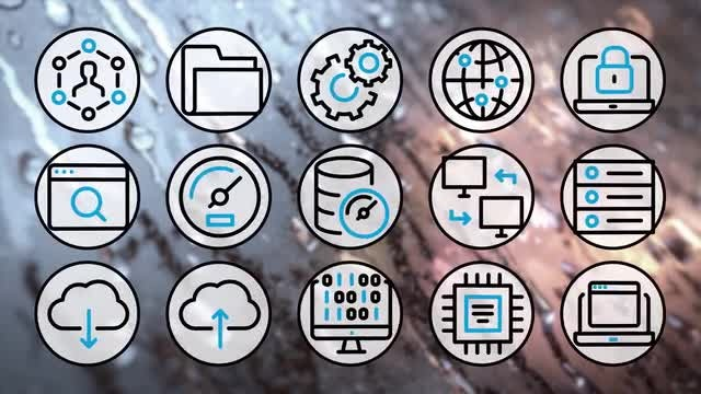 Computer Web Icons 4K Pack: Stock Motion Graphics
