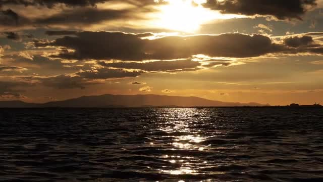 Sea And Clouds At Sunset: Stock Video