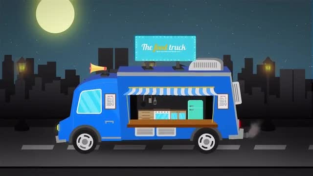 Food Truck Logo Reveal: After Effects Templates