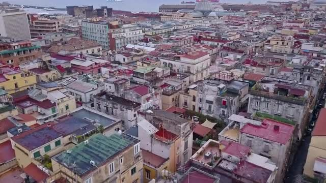 Napoli Top View: Stock Video