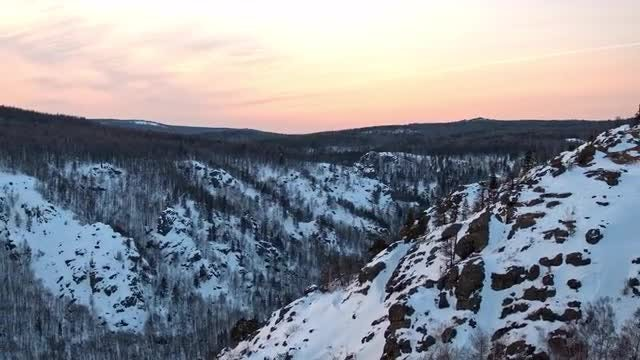 Amazing Sunset And Winter Mountains: Stock Video