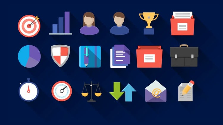 Flat Icons Pack: After Effects Templates