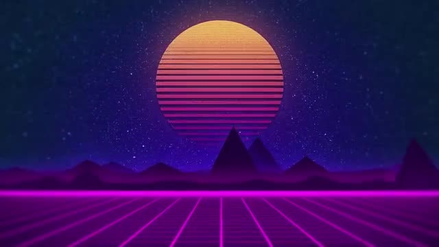 Retrowave Audio React: After Effects Templates