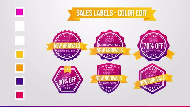 Sales Labels: After Effects Templates