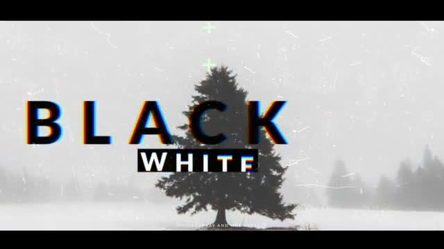 Black White Opener: After Effects Templates