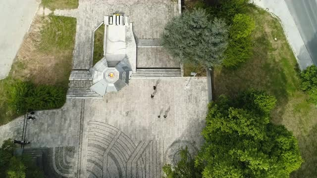 Top View Of Memorial Grounds: Stock Video