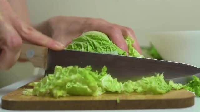 Cooking With Cabbage: Stock Video