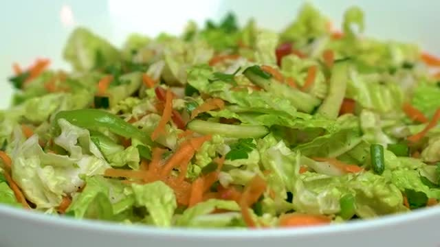 Vegetable Salad: Stock Video