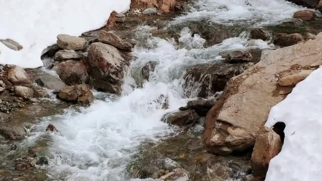 Mountain River In Winter: Stock Video