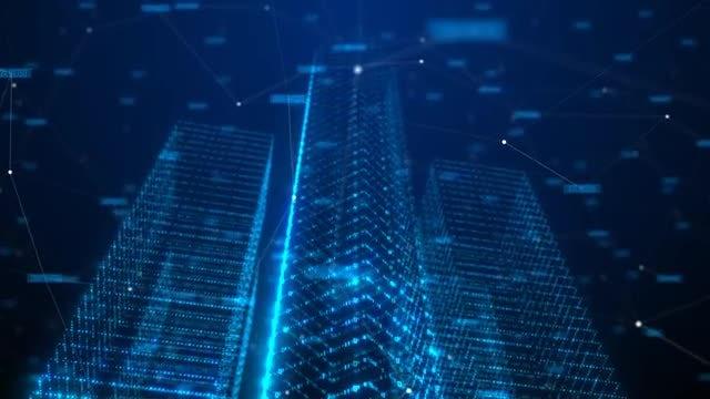 Digital City Buildings: Stock Motion Graphics