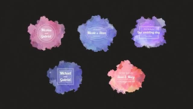 Watercolor Wedding Pack: After Effects Templates