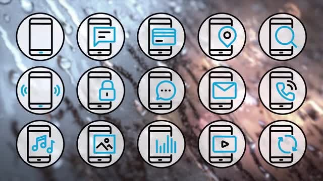 Phone Icons 4K Pack: Stock Motion Graphics