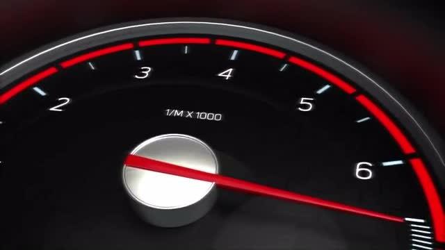 Car Dash Meters Panel: Stock Motion Graphics