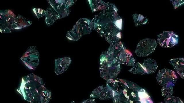Diamond Rain Loop: Stock Motion Graphics
