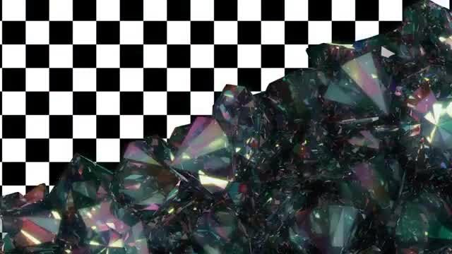 Falling Diamonds Transition: Stock Motion Graphics