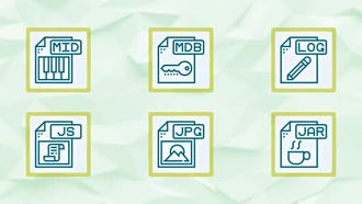 File Types Icons and Elements: After Effects Templates
