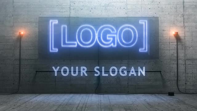 3D Cinematic Neon Logo: After Effects Templates