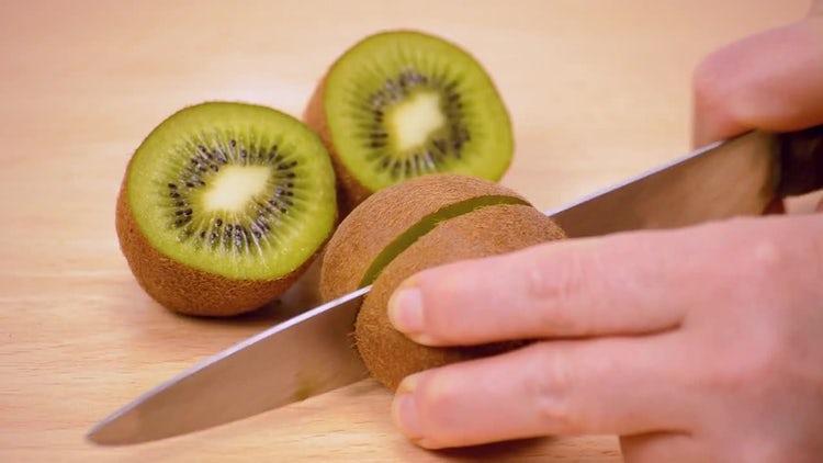 Kiwi Cut In Half: Stock Video