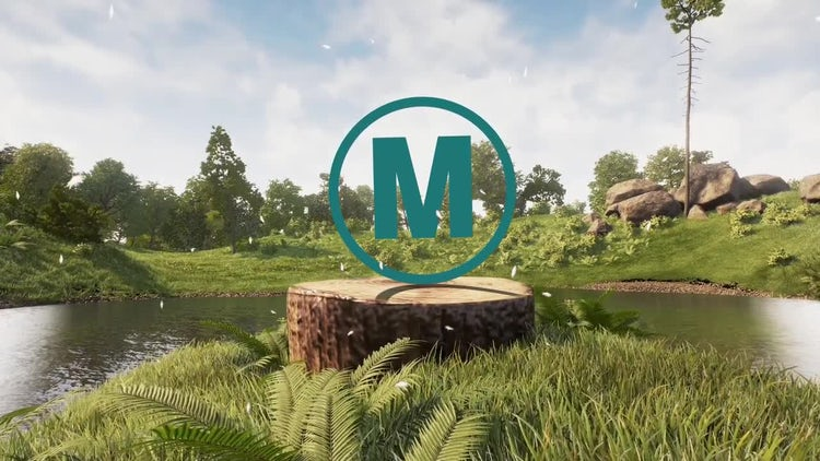 Realistic Natural Logo: After Effects Templates