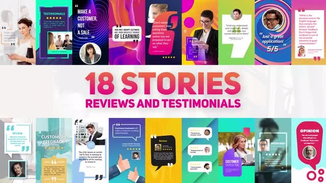 Reviews And Testimonials Insta Pack: After Effects Templates