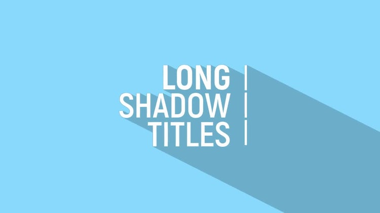 Long Shadow Title: After Effects Templates