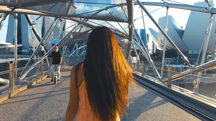 Girl Travels Asia: Stock Video