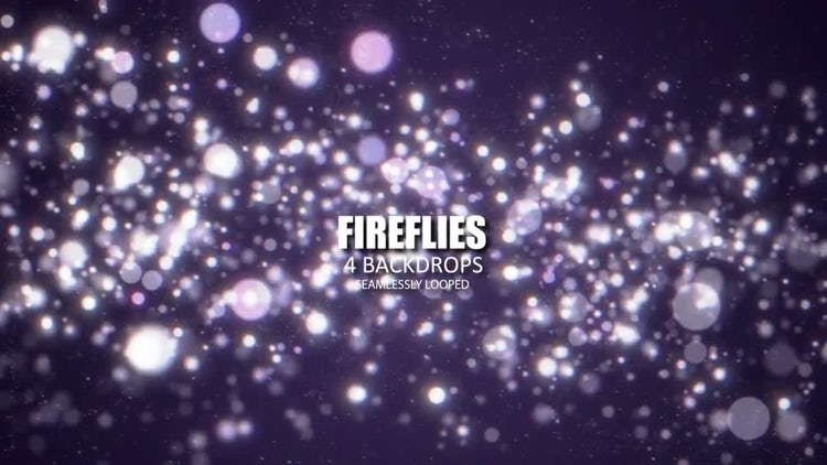 Fireflies Bokeh: Stock Motion Graphics