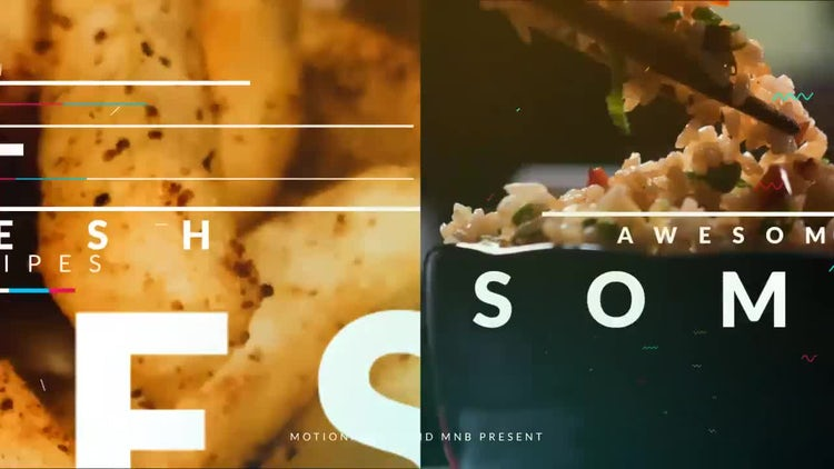 Dynamic Food Opener: After Effects Templates