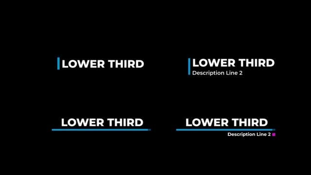 Optimum Lower Thirds: Premiere Rush Templates
