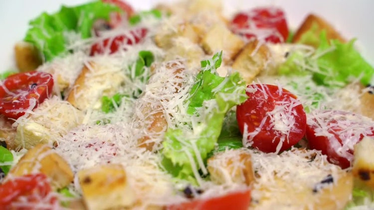 Caesar Salad: Stock Video