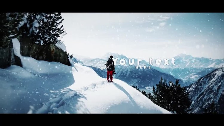 Parallax Slideshow - Snow: After Effects Templates