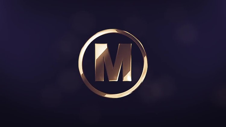 Elegant Gold Logo Reveal: After Effects Templates