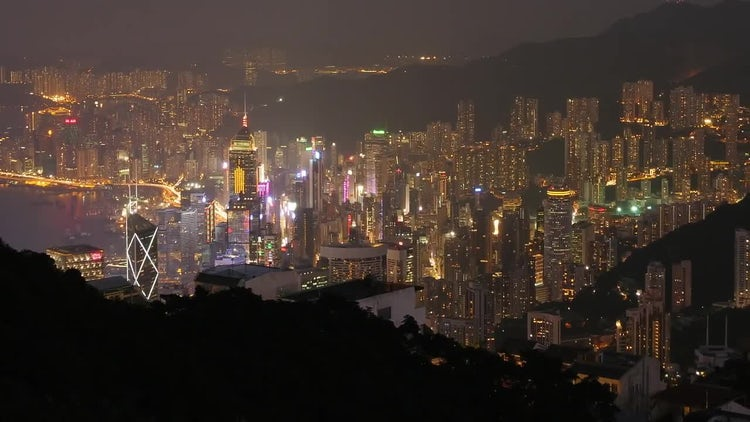 Hong Kong Day To Night: Stock Video