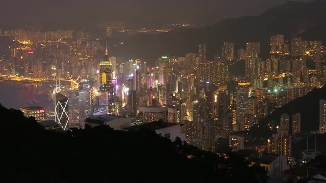 Hong Kong Day To Night: Stock Video