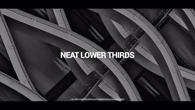 Neat Lower Thirds: Premiere Pro Templates