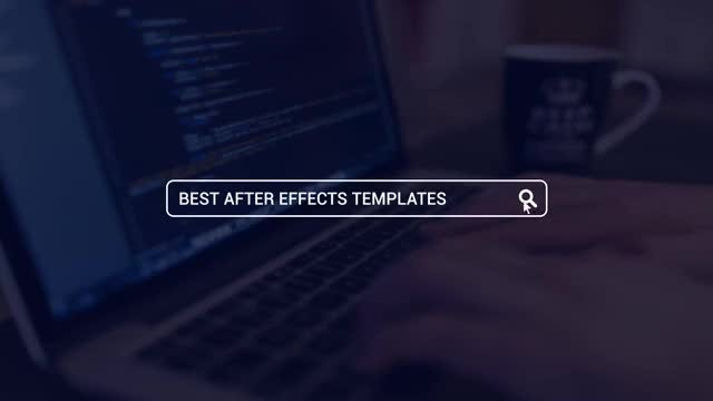 Web Search Logo Opener: After Effects Templates