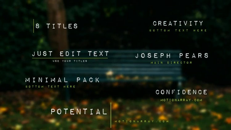 8 Titles: After Effects Templates